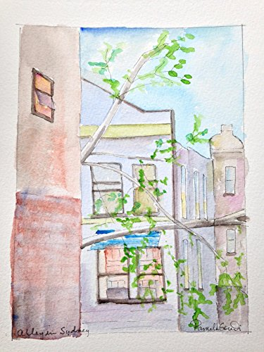alley-in-sydney-australia-hand-painted-watercolor-6-by-8-inches