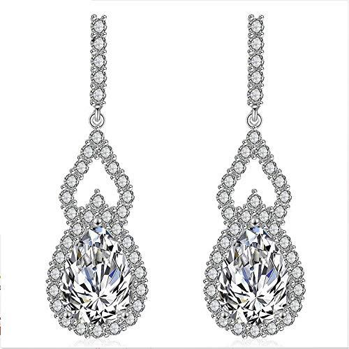 XTT Earrings Hoops Studs Elegant Unique Brand Design Pear Cut Water Drop Earrings with AAA+ Zircon Crystal Nickel Cadmium Free Jewelry