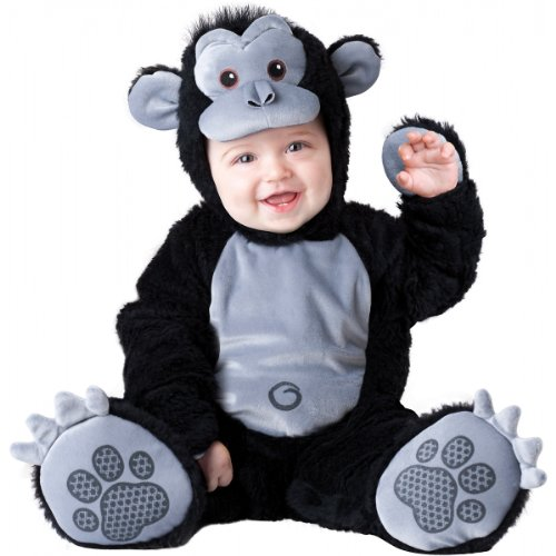 InCharacter Costumes Baby's Goofy Gorilla Costume, Silver/Black, Small ()