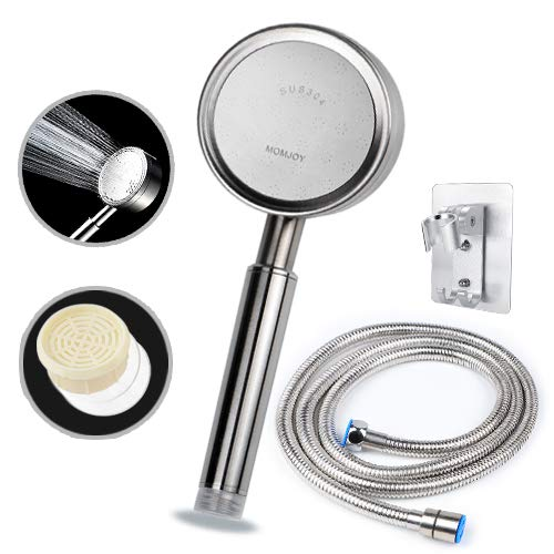 100% Metal Filtered Shower Head with Hose and Holder(Made of 304 Stainless Steel),High pressure Handheld Showerhead+Filter for Hard Water+Long Flexible 71