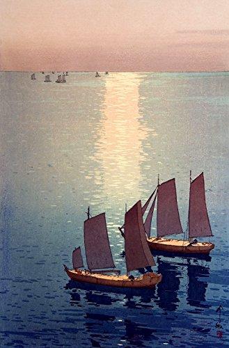 Japanese Art Print The Sparkling Sea by Yoshida Hiroshi