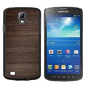 Stuss Case / Funda Carcasa protectora - Textura Horizontal Líneas de Brown - Samsung Galaxy S4 Active i9295