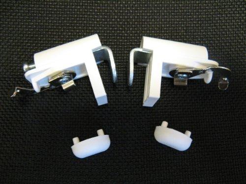 KLEMMFLEX Klemmträger zur Montage direkt auf den Fensterflügel des PVC-/Kunststofffensters ~ 2 Stück = 1 Paar