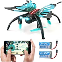 GEEDIAR JJRC H42 RC Drone 2.4G Wifi FPV Quadcopter with HD Camera, Headless Mode, LED Light, Altitude Hold and 3D Roll Function Drone Quadcopter for Kids Gift (Butterfly-shaped, Blue)