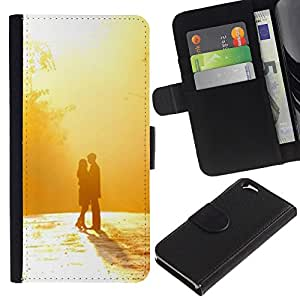 Planetar® Modelo colorido cuero carpeta tirón caso cubierta piel Holster Funda protección Para Apple (4.7 inches!!!) iPhone 6 ( nastroeniya devushka paren )