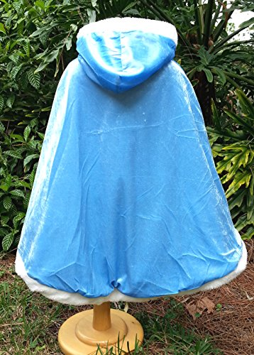 Girls Princess Cape Fits Age 3-7 (BLUE)