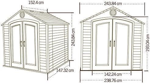 Lifetime plástico dispositivo hogar jardín compacta 244 x X153; dispositivo de plástico Jardín Casa plástico Incluye escaparates: Amazon.es: Jardín