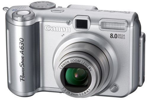 Canon PowerShot A630 8MP Digital Camera with 4x Optical Zoom A630 Camera