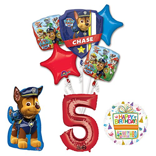Paw Patrol The Ultimate 5th Birthday Party Supplies and Balloon Decorations -