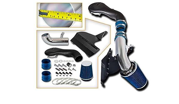 Black Air Intake System Kit /& Filter For 96-04 Chevrolet S10  4.3L V6 short