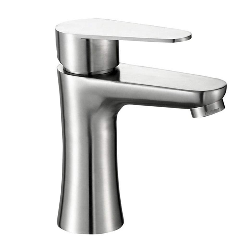 Edelstahl Wasserhahn Waschbecken Wasserhahn Waschbecken Wasserhahn Einzigen LocHöheißen Und Kalten Mischventil