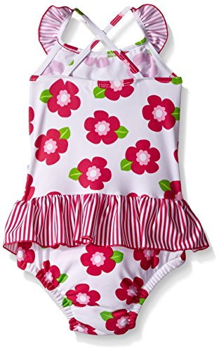 3f19b3018c1af i play. Baby Girls' Ruffle Swimsuit with Built-In Reusable Absorbent Swim  Diaper
