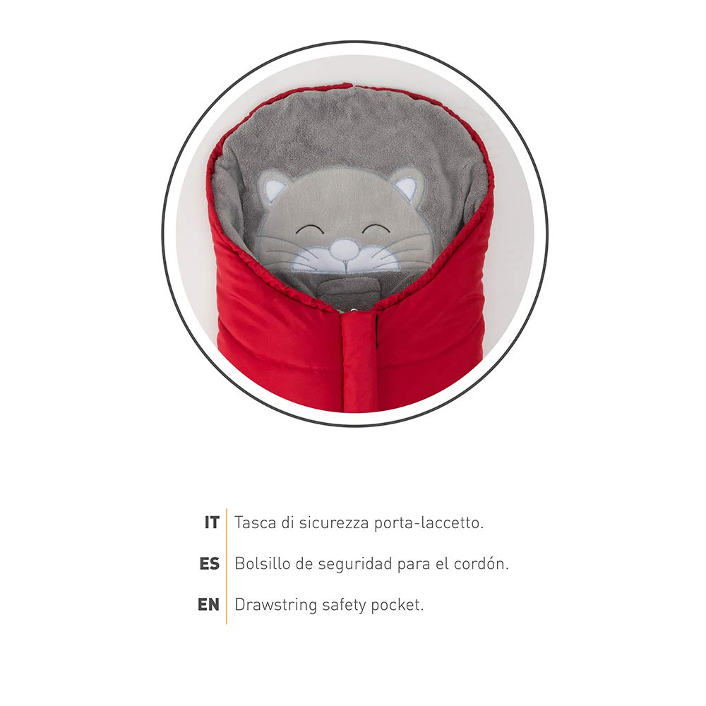 Thermal Cute Animals Design Compatible with Most Carrycots and Car Seat 0-6 Mths Waterproof to Keep Babies Warm up to -10/° Nuvita 9205 Ovetto Cuccioli Universal Footmuff