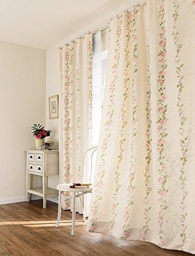 東リ 繊細な水彩表現が美しいカーテン カーテン2.5倍ヒダ KSA60117 幅:250cm ×丈:140cm (2枚組)オーダーカーテン   B077TBPGNX