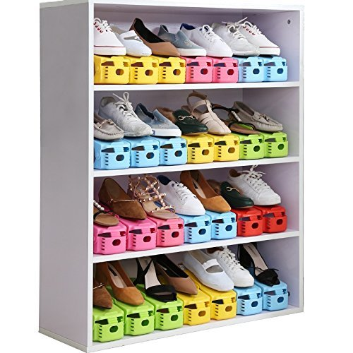 Lot Réglables organiseurs nbsp;supports Et Fonctionnels Créatifs Pour De Rangement Chaussures 10 BwFrOB