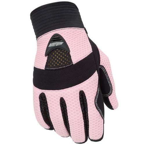 Tour Master Airflow Women's Textile On-Road Motorcycle Gloves - Pink/Small