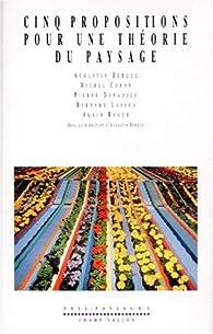 Cinq propositions pour une théorie du paysage par Augustin Berque