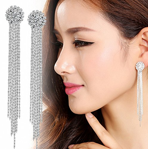 megko Elegant Generous Crystal Earrings