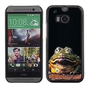 TopCaseStore / la caja del caucho duro de la cubierta de protección de la piel - Funny Hypno Toad Big Frog - HTC One M8
