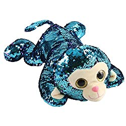 Stuffed Monkey Soft Plush Toy with Reversible Sequins