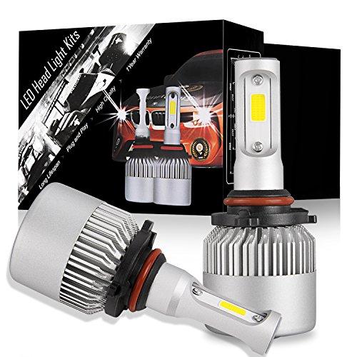 DJI 4X4 9005 HB3 LED Headlight Bulbs Kit, LED Headlamp Advanced CREE Chips 100W 10000LM 6000K Cool White - 1 Pair