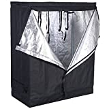 SPL Horticulture 48″x24″x60″ Mylar Hydroponic Grow Tent for Indoor Plant Growing