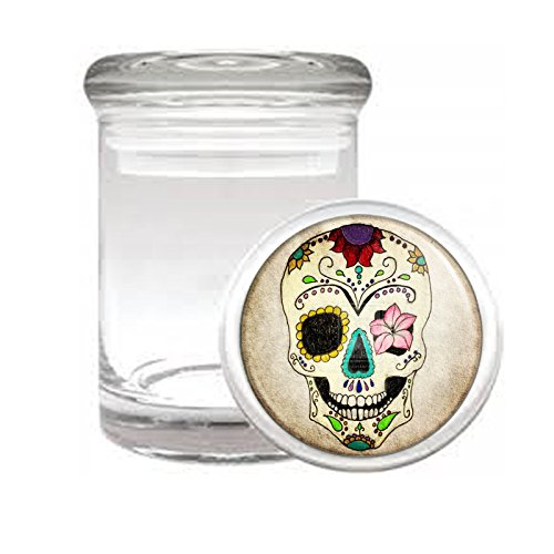 Sugar Skull D10 Medical Glass Jar 3