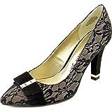 Anne Klein Thrya Women Pointed Toe Canvas Black Heels