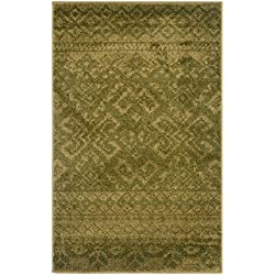 Safavieh Adirondack Collection ADR107D Green and Dark Green Rustic Bohemian Area Rug (3' x 5')
