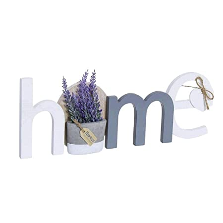 Dream Hogar Letras decoración Cartel Colgador Pared Home Lavanda Madera 31x11,5x3 cm