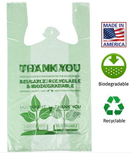 Eco Plastic Bags - Biodegradable Plastic T-Shirt Thank You Bags - 500/Case - Save Money Buy Bulk