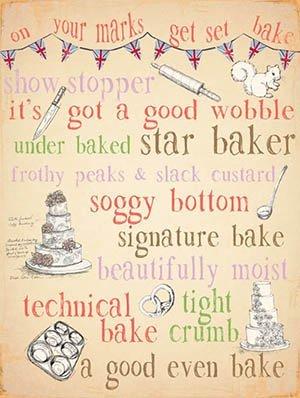 On your marks get set Bake Star Baker metal Sign by The Original Metal Sign Company