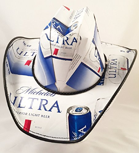 Beer Box Cowboy Hat Made with recycled Michelob Ultra - Box Hat Cowboy Beer