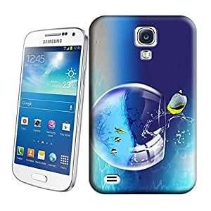 HBox Phone Cover Protector for All People Hot Sale-Fish is Jumping out Fish Tank Print on Hard Plastic Phone Case Skin Shell for Samsung Galaxy S4 Case