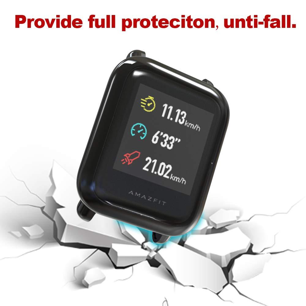 Amazon.com: iHYQ Compatible Amazfit Bip Protector de ...