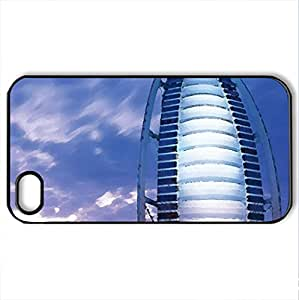 Burj-Al-Arab - Case Cover for iPhone 4 and 4s (Watercolor style, Black)