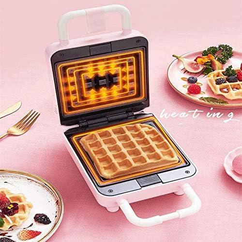 Kleine Multi-functionWaffle Maker, 220V 500W Multifunctionele Elektrische wafelijzer Pan ontbijt Brood Making Machine, dubbelzijdig Verwarming antiaanbaklaag