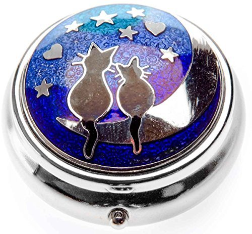 Pill Box in a Cats on Moon Design.