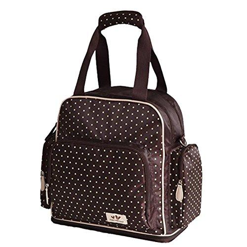 Landuo Adjustable Space Back Pack Messenger Diaper Bag Brown