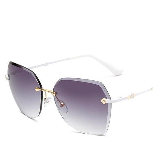 Wmshpeds Damen Sonnenbrille, Rahmenlose Sonnenbrille, Europäischen und Amerikanischen Ozean Sonnenbrille, retro Sonnenbrille