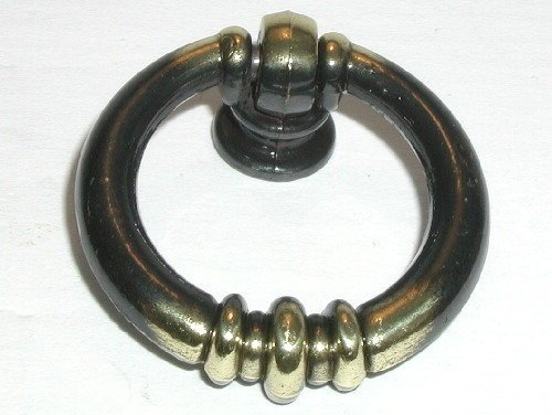 - Top Knobs M176 Newton Ring Pull Brass/Antique Brass