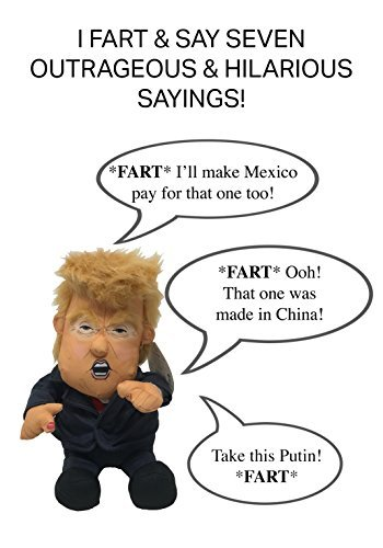 Pull My Finger Farting Donald Trump Plush Figure Doll