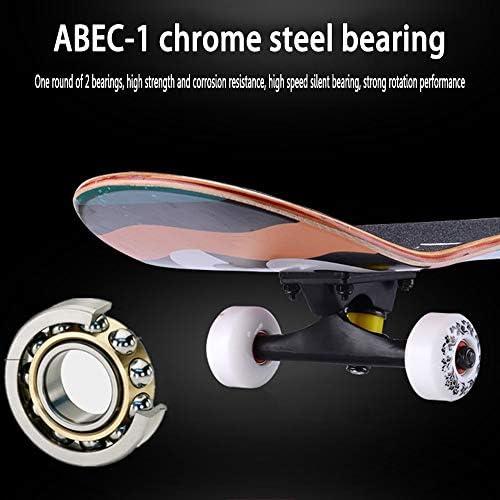 Fuxiang Skateboard f/ür Anf/änger Erwachsene 7.75 Zoll Ahornholz Skateboard Geburtstagsgeschenk f/ür Teenager M/ädchen 80CM x 20CM Komplettboard mit ABEC-7 Kugellager Belastung 100kg