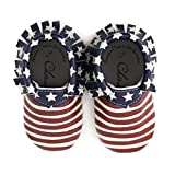 Product review for American Flag Patriotic USA 4th of July 100% American leather moccasins for babies & toddlers Made in US Size 2 (6-12 Month)