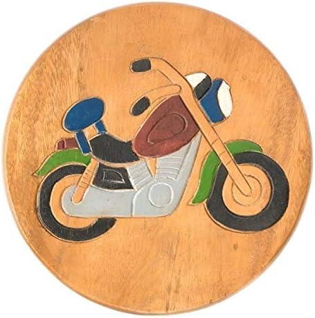 Fairtrade Lifestyle Childs Stool-Motorbike One Size