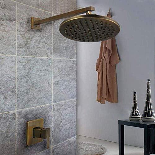 ZJN-JN セットのシャワー新ウォールマウント8インチお風呂シャワーミキサー蛇口タップのw /ハンドヘルドスプレーアンティーク真鍮のレインシャワー浴槽の蛇口 シャワーヘッド ホース セット システムバス