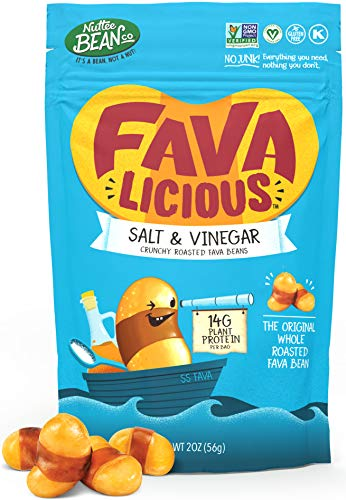 Roasted Fava Beans Salt and Vinegar Flavor No Gluten Allergy-Free Healthy Snacks Food Vegan Low Calorie Snack All Natural Ingredients 12 x 2 Ounce by Nuttee Bean Join the Snack Revolution