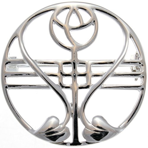Sterling Silver Charles Rennie Mackintosh Brooch (Pin) with Gift ()