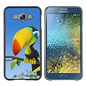 """Be-Star Único Patrón Plástico Duro Fundas Cover Cubre Hard Case Cover Para Samsung Galaxy E7 / SM-E700 ( Tucán Aves"""" )"""