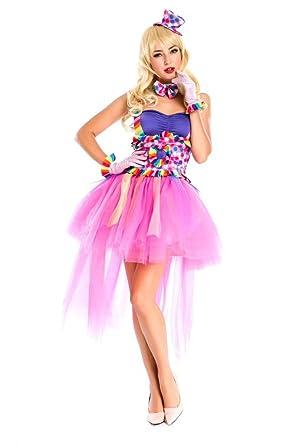 Amazon.com: Señoras Jester Payaso de circo disfraz infantil ...